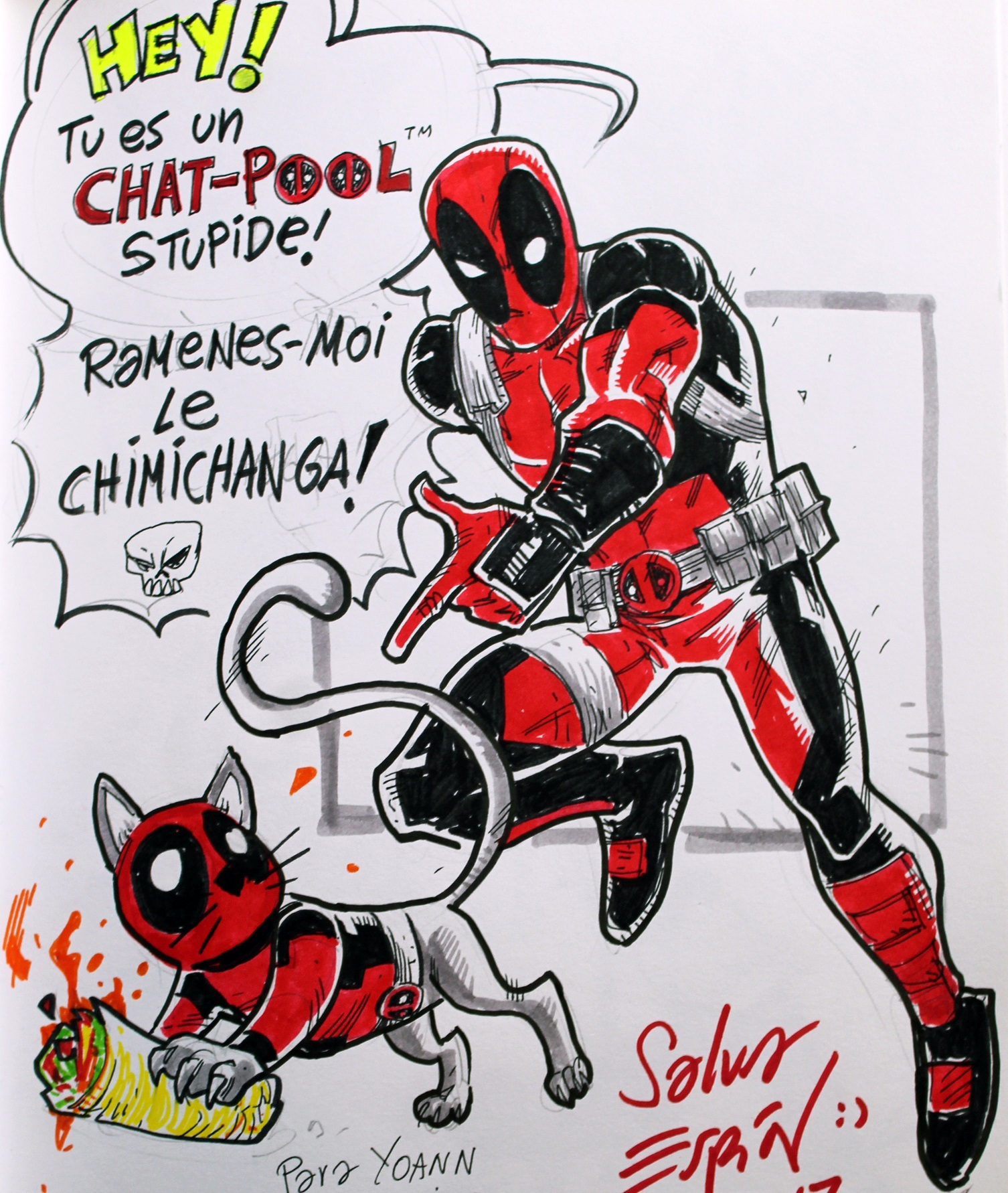 Instant dessin salva espin dessine deadpool - Dessin deadpool ...